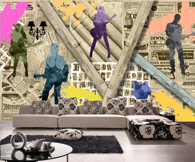 Colomac White пользовательские 3d росписи 3d ретро кирпичный узор белый кирпич обои кафе бар фон роспись нетканые обои