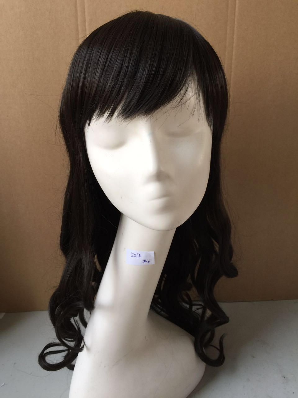 парик BOND bond products heat resistant fiber hair wigs brown color glueless wavy synthetic wigs