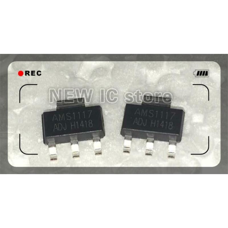 IC 20pcs lot new original ams1117 adj az1117d adj to 252 voltage regulator ic wholesale electronic