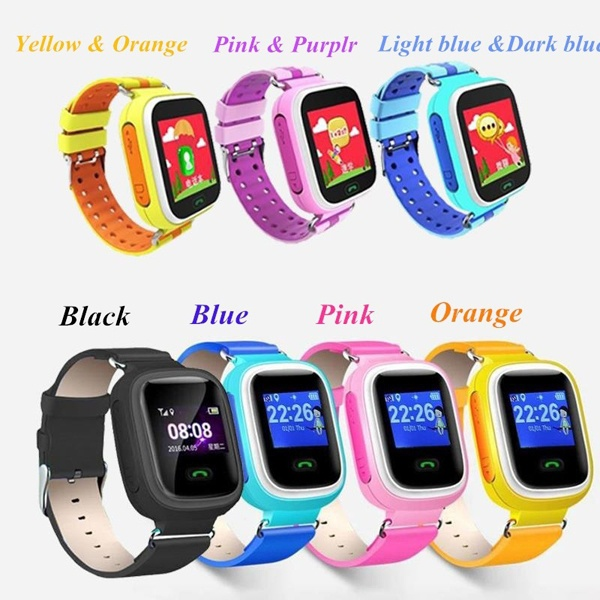 WHAQS розовый ds18 waterproof smart baby watch gps tracker for kids 2016 wifi sos anti lost location finder smartwatch for ios android pk q50
