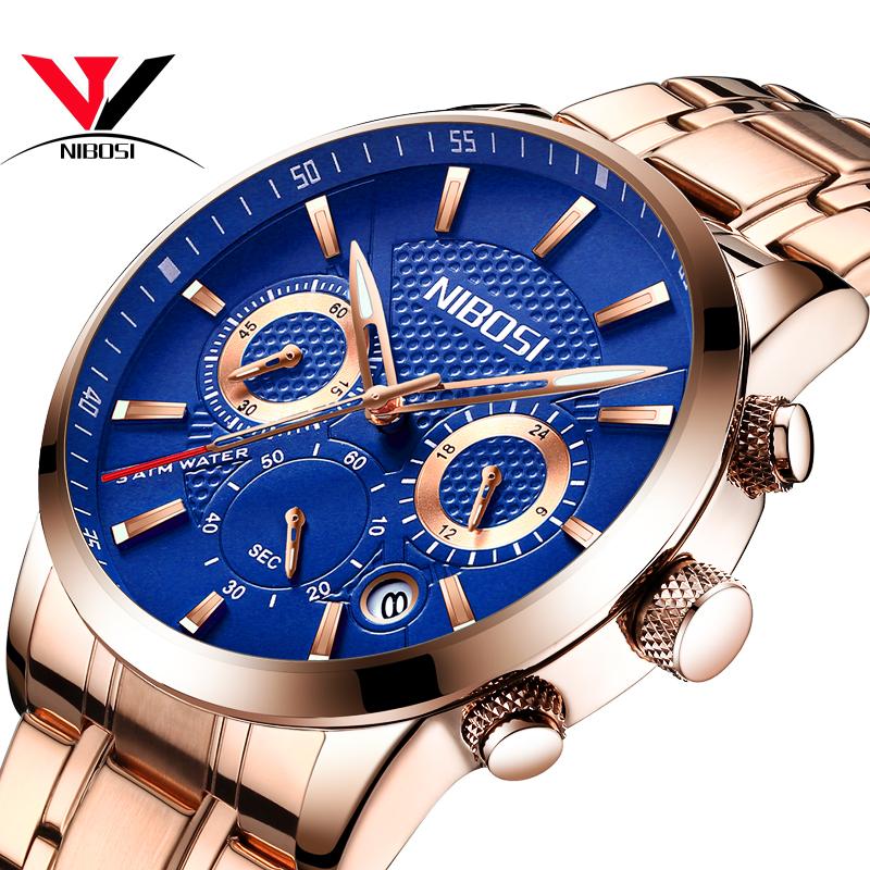 NIBOSI Мужские наручные часы из горного хрусталя doxa мужские швейцарские наручные часы doxa 155 10 151 010