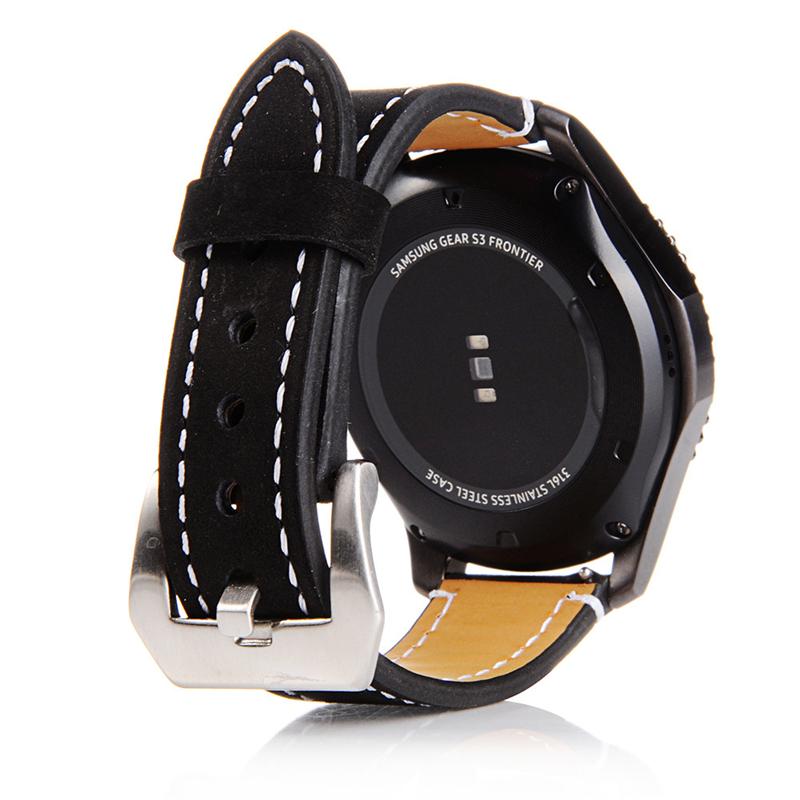 PINSENDA Чёрный цвет 22mm stainless steel watch band for samsung gear s3 classic frontier butterfly buckle strap wrist belt bracelet black silver