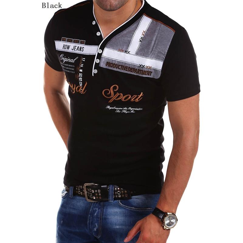 ZOGAA с коротким рукавом черный Номер S u s polo assn men s short sleeve pique polo shirt with multi color pony logo
