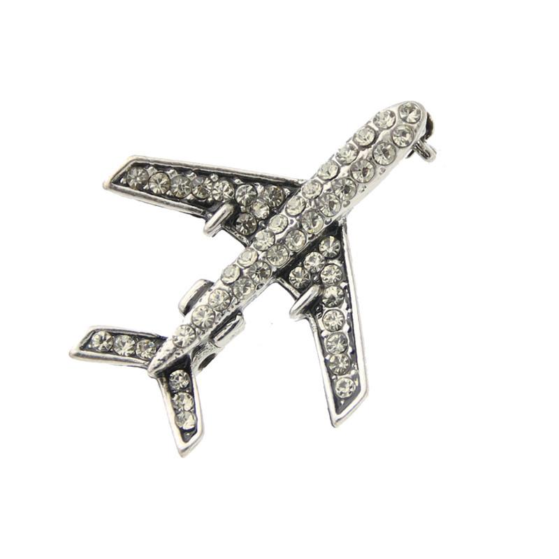 SUNSPICE MS Серый цвет Классический сувенир брошь деревянная самолет