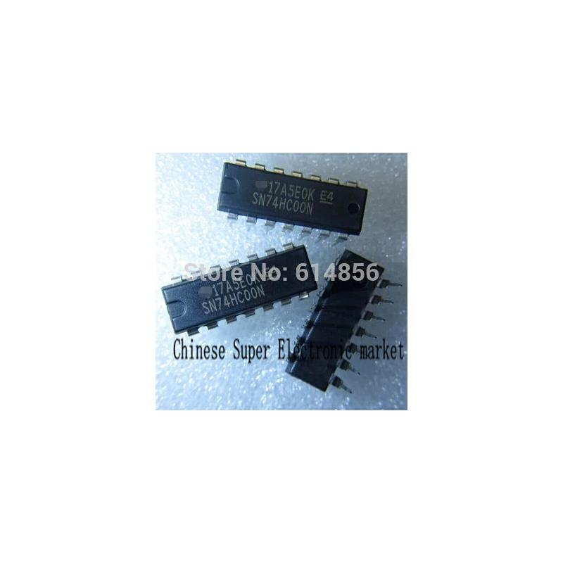 IC 100pcs sn74hc00 hc00 74hc00 74hc00n dip14 nand gate ic