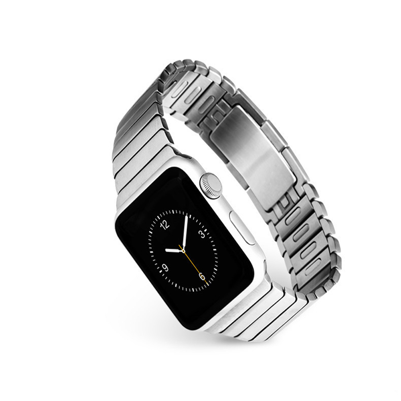 PINSENDA Серебро 38MM 38mm 42mm smart watch metal strap for apple watch band three links bracelet stainless steel band for apple watch series 3 2 1
