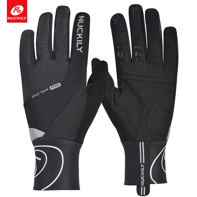 NUCKILY Черный XL pro biker mcs 03 motorcycle racing full finger warmer gloves blue black grey size xl pair