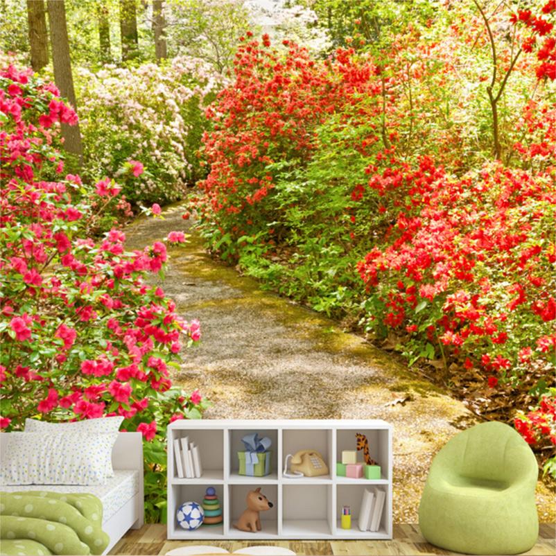 Colomac Смешанный цвет пользовательские обои для фото европейский стиль романтический цветок 3d росписи брак комната спальня гостиная нетканые печатные обои 3d