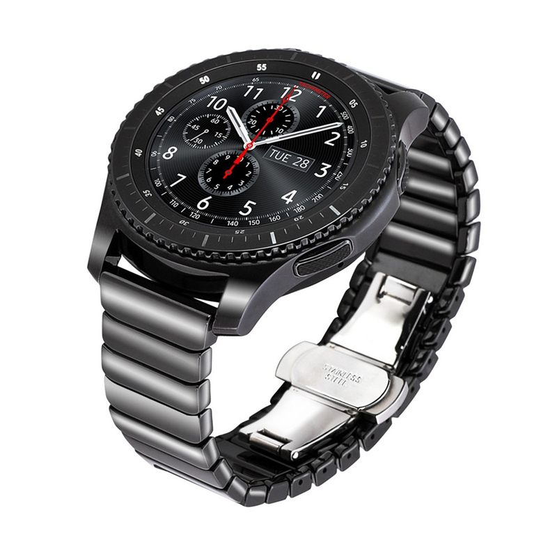 Фото - PINSENDA Чёрный цвет 22mm or 20mm woven nylon leather watch band strap for samsung gear s3 sport huawei watch 2 with quick realease pin watchbands