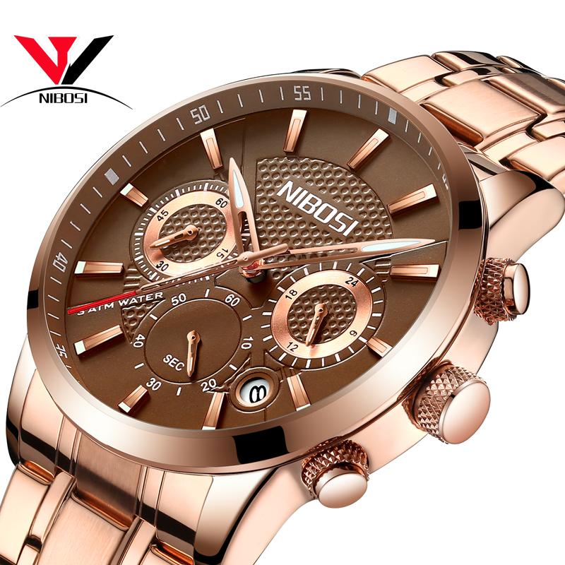 NIBOSI Мужские наручные часы Gary Color Steel doxa мужские швейцарские наручные часы doxa 155 10 151 010