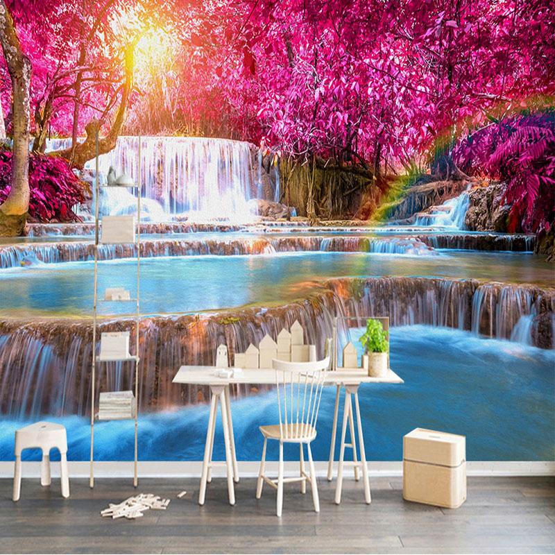 Colomac Смешанный цвет пользовательские фото стены бумага 3d природный ландшафт большие фрески обои для гостиной фон домашний декор murales para pared 3d