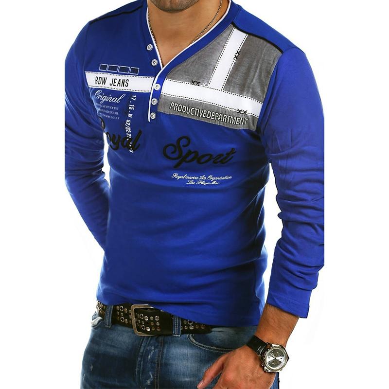 ZOGAA длинные рукава королевский синий Номер S u s polo assn men s short sleeve pique polo shirt with multi color pony logo