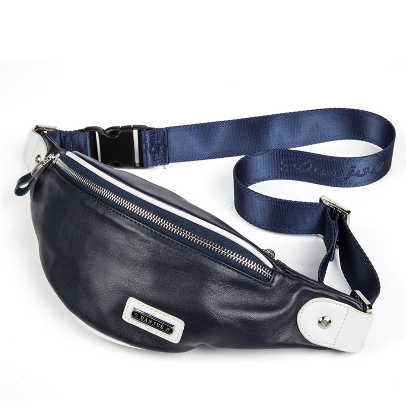 Мужская сумка из натуральной кожи Мужская сумка из натуральной кожи DANJUE синий 26CM X 11CM X 6CM фото