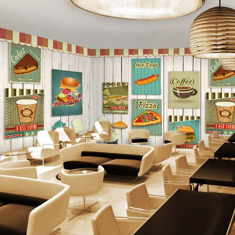 Colomac Розовый фото обои смазливая мультфильм обои гамбургер фаст фуд ресторан кофе чай магазин большой роспись причал крыльцо дерево обои
