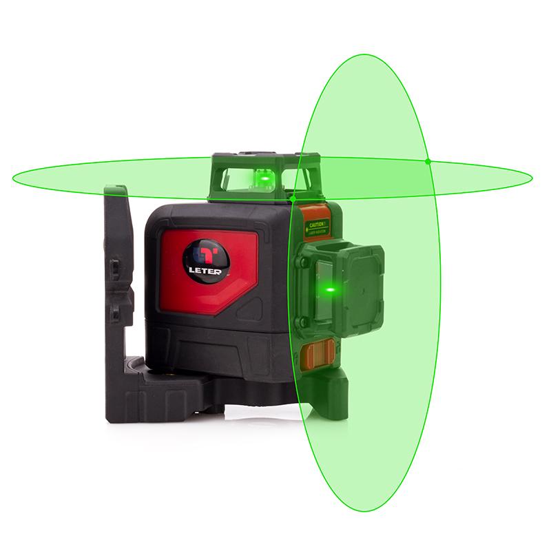 Leter Лазерный уровень Наружный 8-полосный зеленый 360 градусов Зе