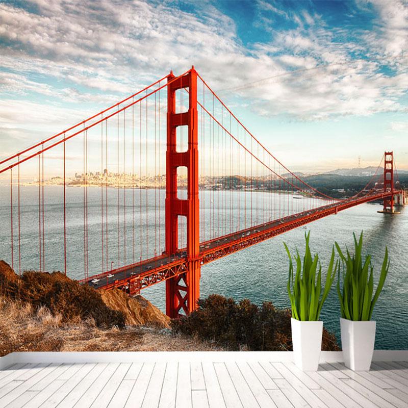 Colomac высококачественные пользовательские 3d обои для обоев для спальни 3d ландшафт для сада и сада