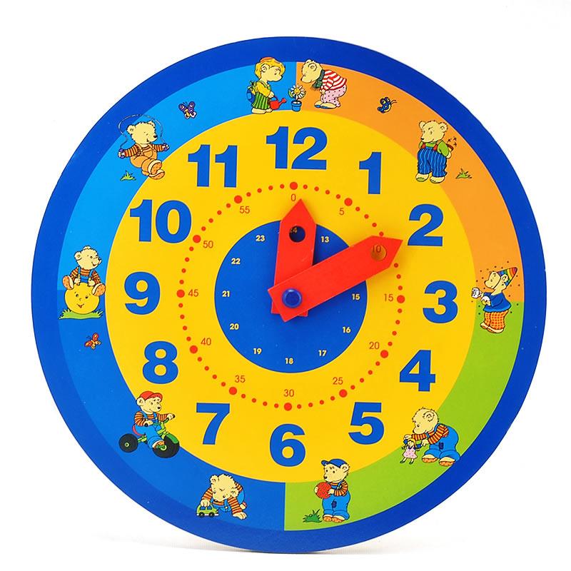 goki Clock bears learn the time