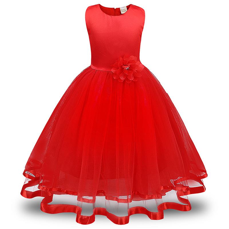 Красный цвет 150 платья для девочек