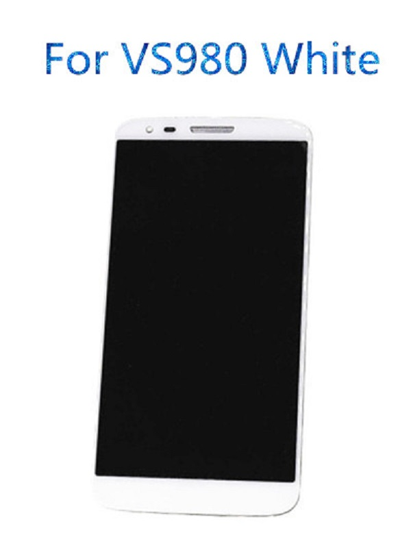 jskei Для VS980 LCD White new black lcd for sony xperia z3 mini compact d5803 d5833 lcd display touch screen with digitizer bezel frame