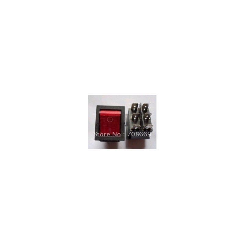 IC diy rocker switch for car vehicle black red 11cm