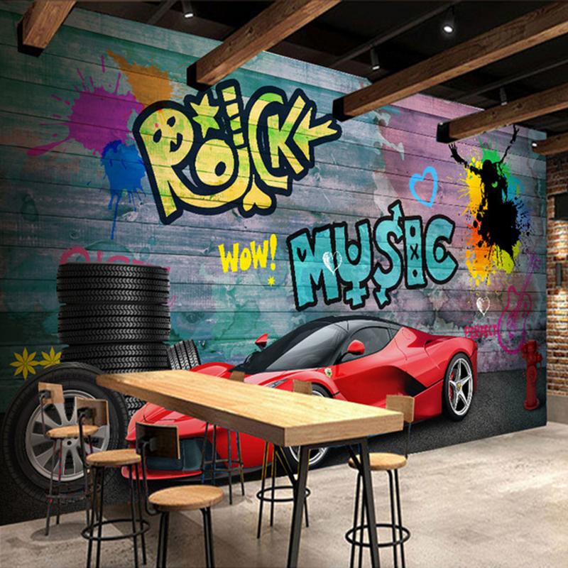 Colomac Смешанный цвет custom kids wallpaper music graffiti murals for the children s room in the garden wall waterproof fabric parede de papel