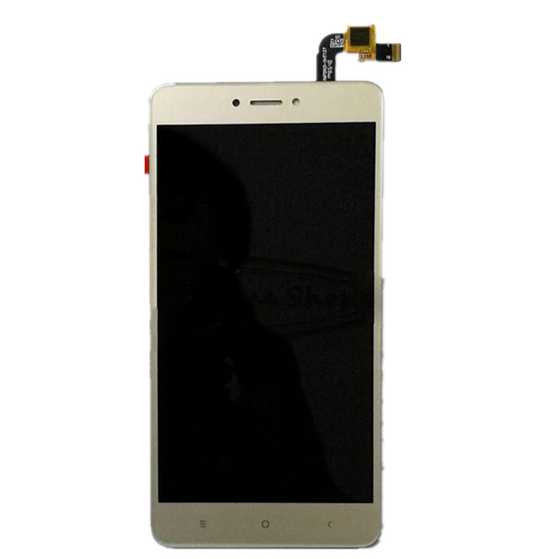 jskei Золотой цвет lcd screen display touch digitizer with frame for 5 5 xiaomi redmi note 2 hongmi note 2 black free shipping