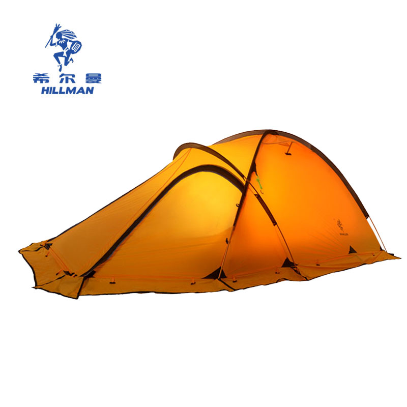 HILLMAN желтый двойной outdoor winter tent aluminum alloy mountaineering tourist tents ultralight camping tent 1 person