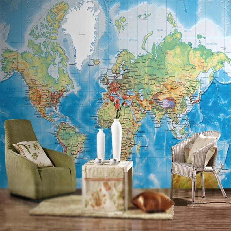 Colomac Смешанный цвет 3d обои для фото 3d большая настенная роспись персонализированная еда ресторан обои карта мира живая обои роспись