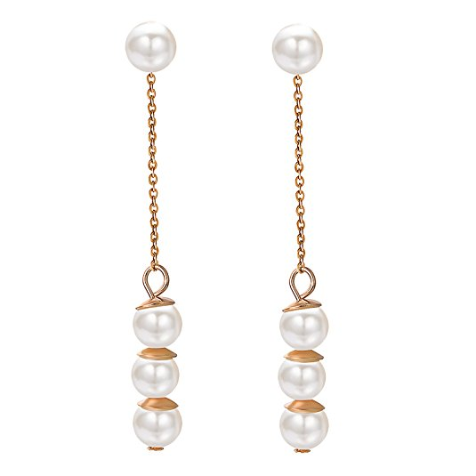 yoursfs золотой yoursfs cc trendy three color drop earrings rose gold plated vintage dangle earring pendientes mujer moda online shopping india