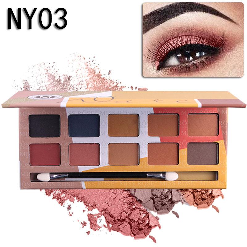 MISS ROSE Жёлтый цвет miss rose professional mult color make up palette set hot flower makeup collection 7002 150y