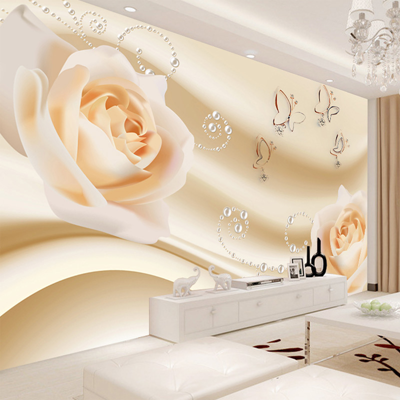 Colomac custom 3d murals seasons winter fir snow nature papel de parede hotel living room sofa tv wall bedroom stereoscopic wallpaper