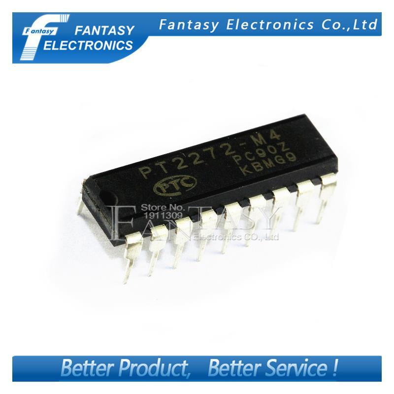 IC 10pcs free shipping pt2272 m6 pt2272 m6 dip 18 remote control decoder ic new original