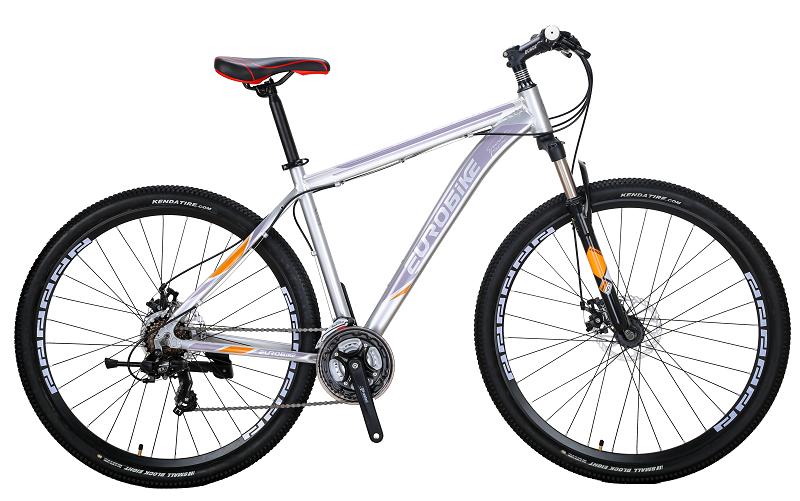 EUROBIKE Серебряный Алюминиевый сплав behee 26 дюймы 21 скорость складной горный велосипед средняя ось двойной дисковый тормоз