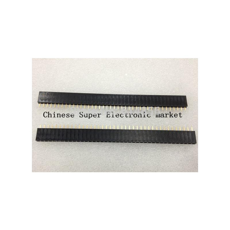 IC areyourshop 100pcs iron 2x40pin 2 54mm male double row right angle pin header for ardunio