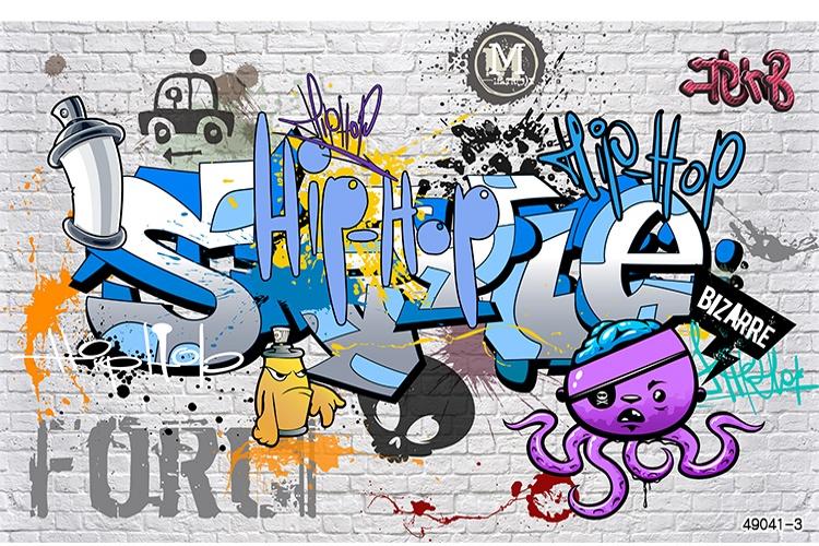 Уличное искусство граффити 3D обои для спальни Colomac Yellow фото