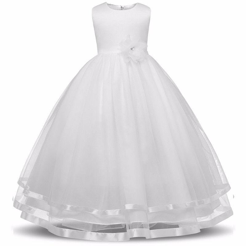 Белый цвет 140 платья для девочек