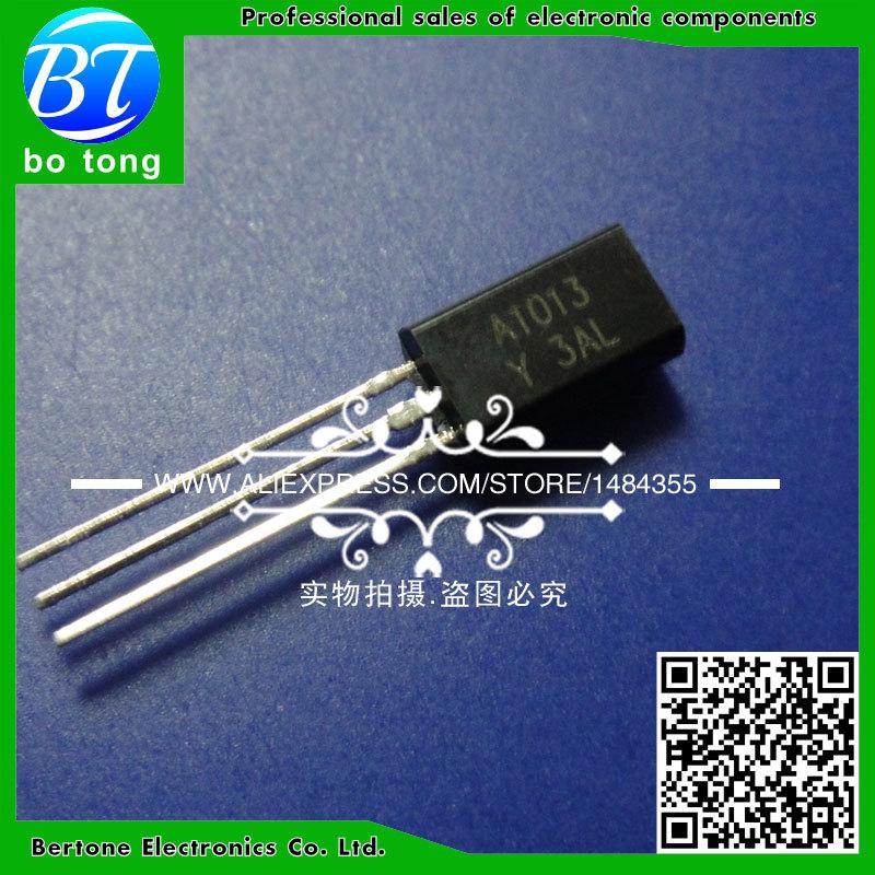 IC 200pcs free shipping 2sa1013 a1013 to 92 bipolar transistors bjt transistor pnp 160v 1a new original