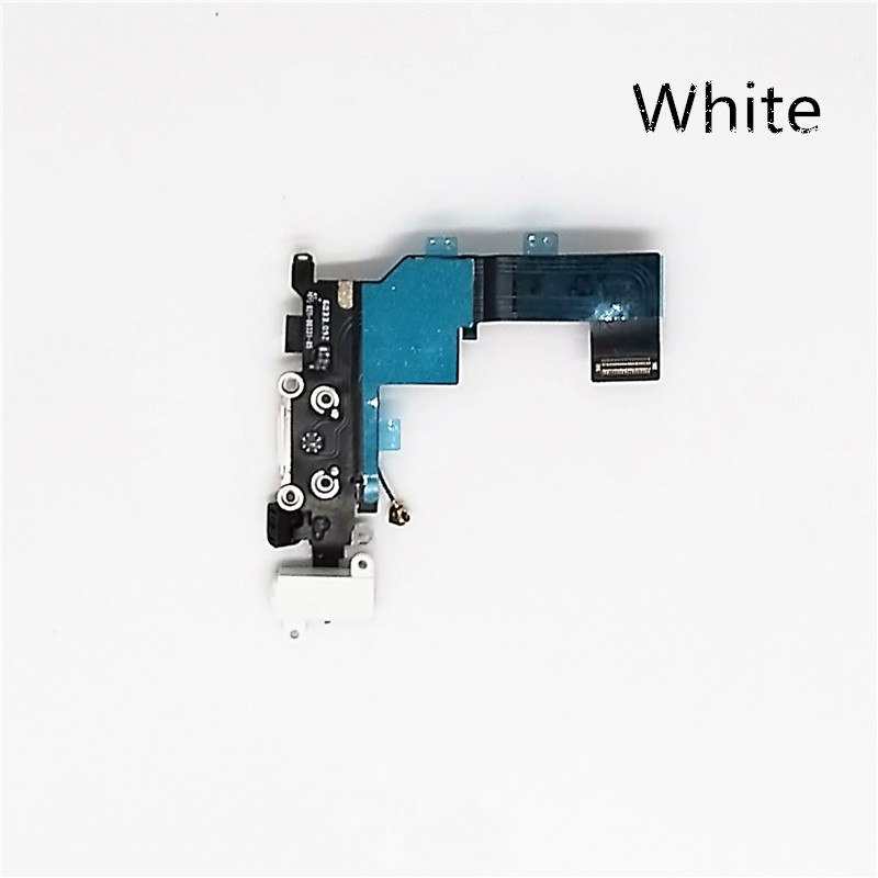 jskei белый original usb charging dock charger port flex cable for iphone 7 high quality headphone audio jack connector flex cable