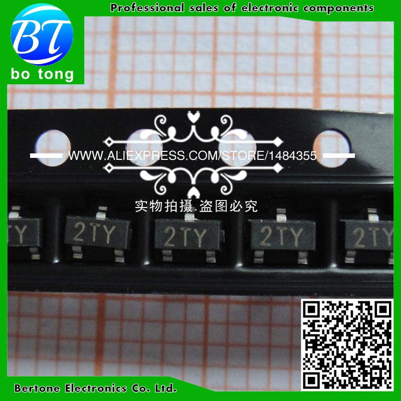 IC 500pcs new mmbt8550lt1g mmbt8550 s8550 0 5a 25v marking code 2ty pnp transistor sot23