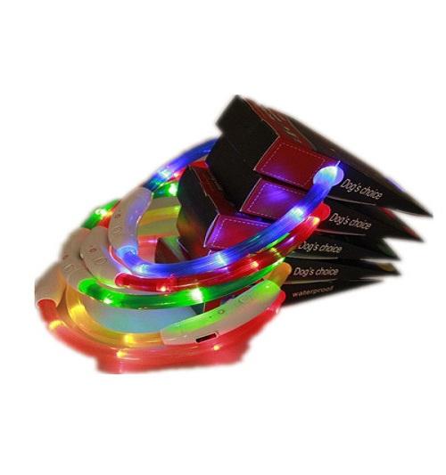 USB-зарядка Регулируемая перезаряжаемая ночная вспышка Светящиеся ошейники для с suwumu Многой цвет Любимчика домашних животных фото