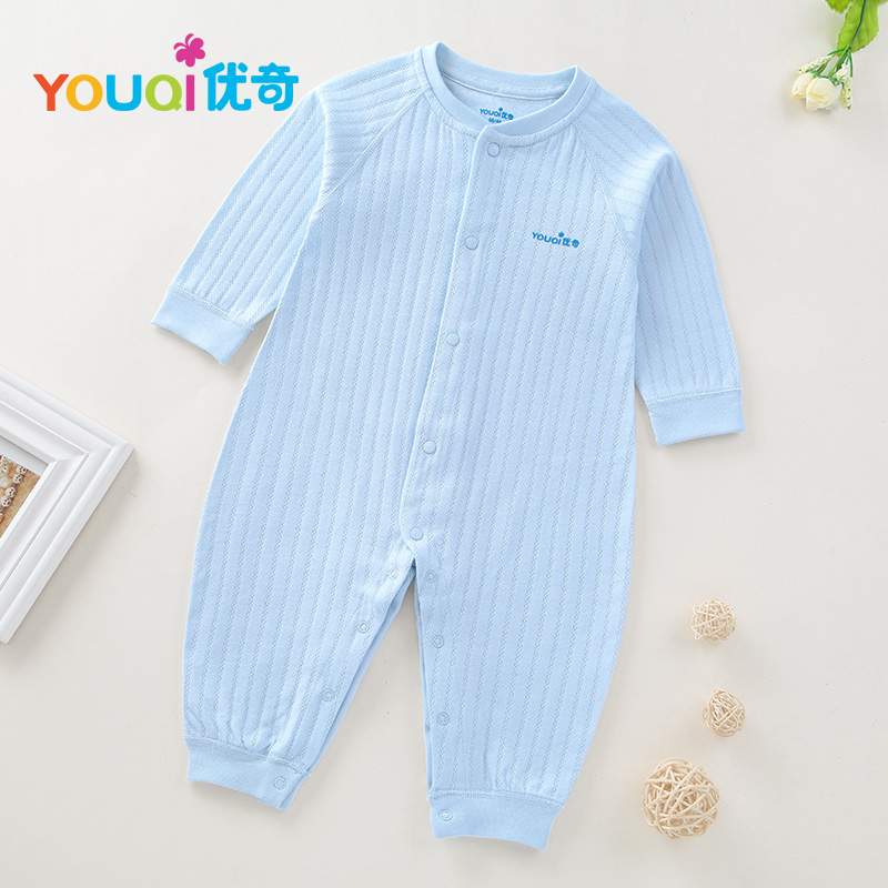 Синий цвет 6-9 Months lovely striped rompers для baby cotton baby girl одежда мальчик костюм для пижамы 1 3 6 9 месяцев с длинным рукавом весна осень