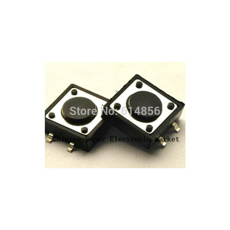 IC 100pcs 6x6x12mm tactile switches push button tact switch 6 6 12m