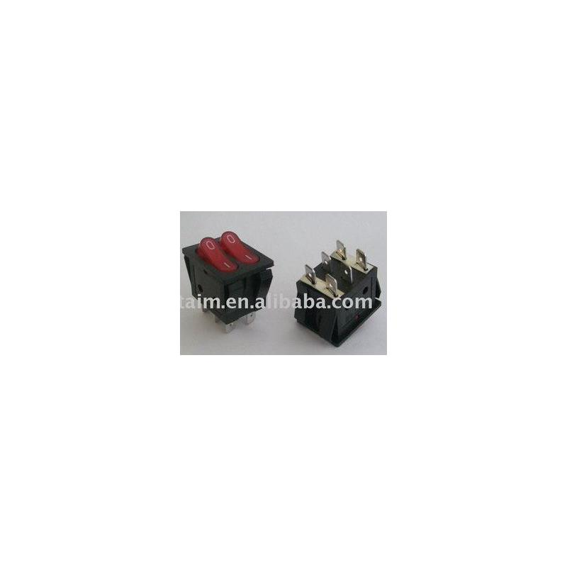 IC 100pcs power dual lighted snap in o f rocker switch kcd212
