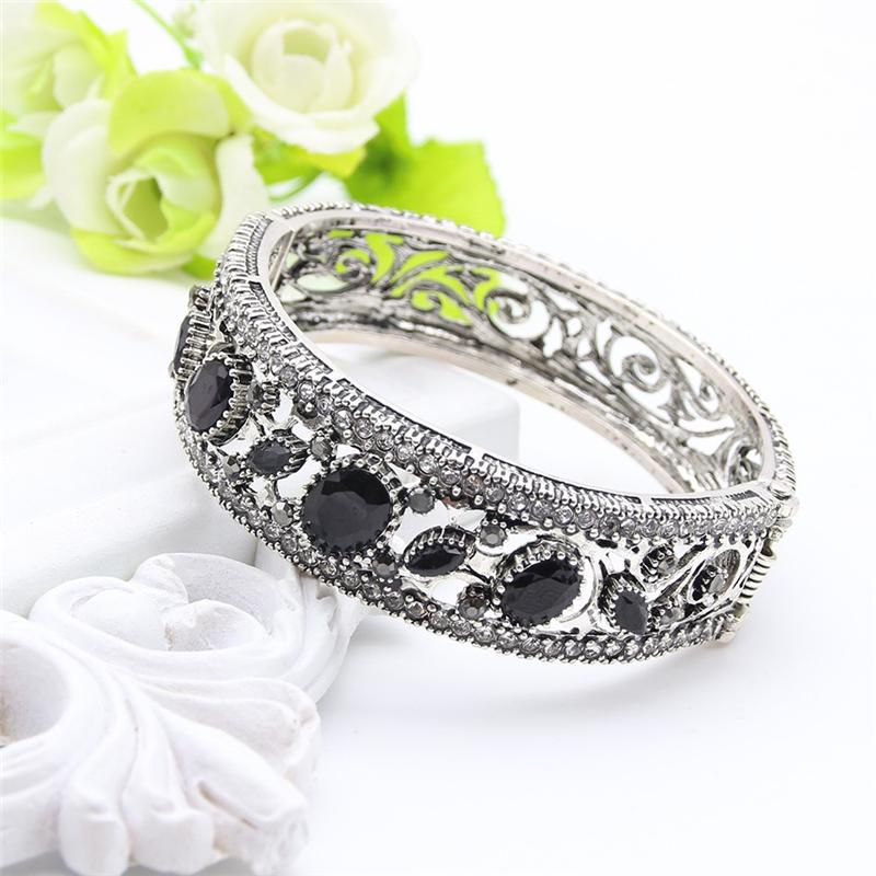 SUNSPICE MS Black браслет браслеты браслеты браслеты турецкие симметричные ювелирные изделия цветочного искусства