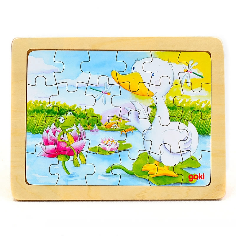 goki Puzzle Animal duck24pcs mushroom stud building block jigsaw puzzle toy for kids 296pcs