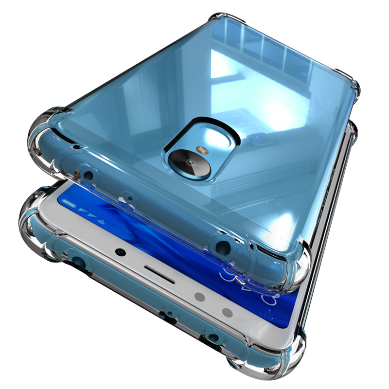 JD Коллекция Прозрачный Redmi 5Plus смартфон телефон защитный чехол красный
