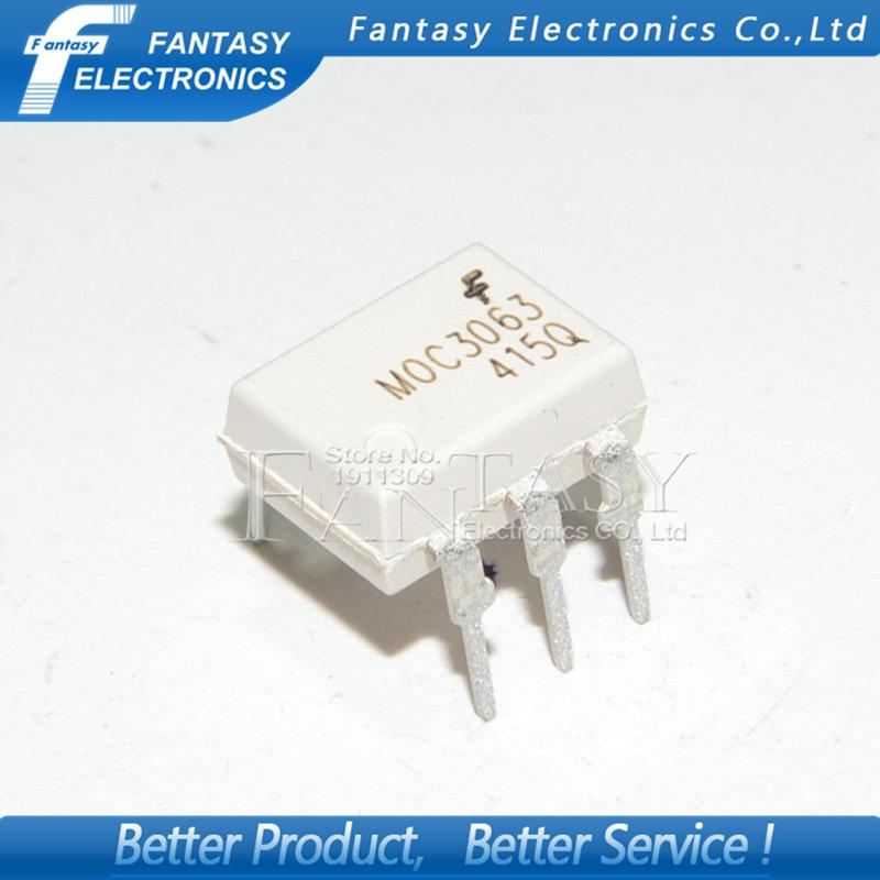 IC 10pcs moc3063 sop6 moc3063 sop smd new and original ic free shipping