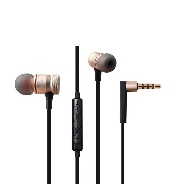 hongsund Золото earphone qkz ck5 headset sport earbuds stereo for mobile cell phone running dj with hd mic fone de ouvido auriculares audifonos