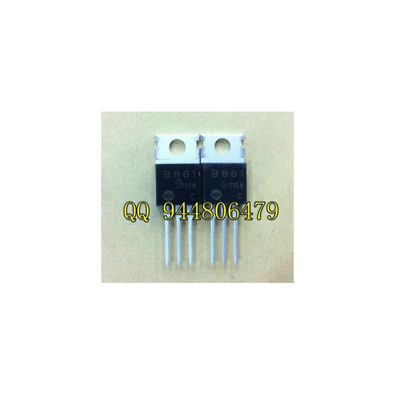 IC 10pcs free shipping 2sb861 pnp audio amplifier tube 2a200v30w b861 original authentic