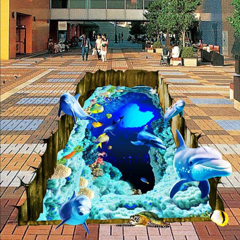 Colomac Смешанный цвет бесплатная доставка virgin лес фантазии путь полы обои ванной площадь носить самоклеящиеся пол обои фрески 250cmx200cm